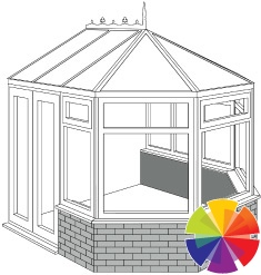 Colour options for the conservatory