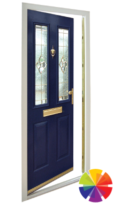 Colour options of the composite uPVC door