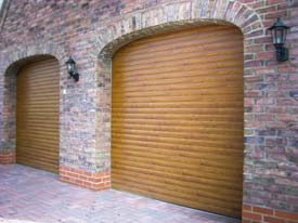 Look at the garage doors from the outside
