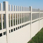 White block and gap pannel fence