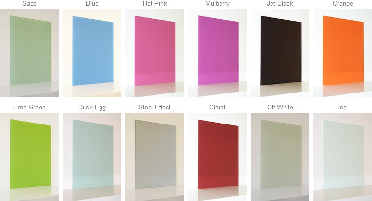 glass splashback color swatches