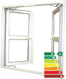 Energy saved by french casement windows