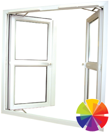 Colour options for the french casement windows